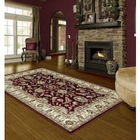 """LYKE Home Audrey Red Area Rug - 7'10"""" x 10'2"""""""