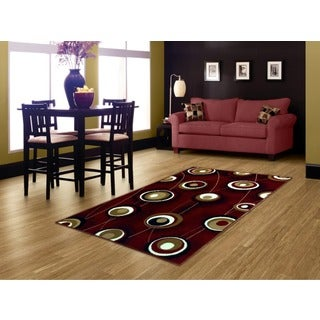 LYKE Home Red Area Rug (5' x 7')