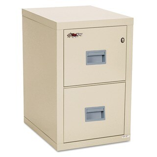 FireKing Turtle Parchment Two-Drawer File
