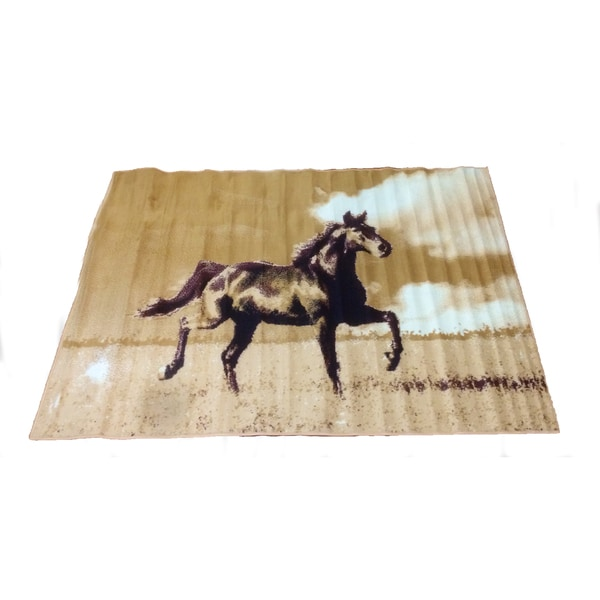 Shop Lyke Home Dawn Horse Area Rug 5 X 7 5 X 7 Free