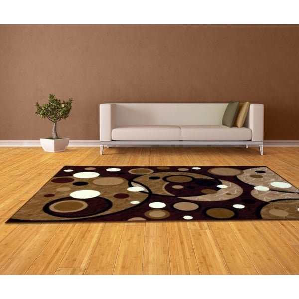LYKE Home Sevyn Brown Area Rug (8' x 10') - 8' x 10'