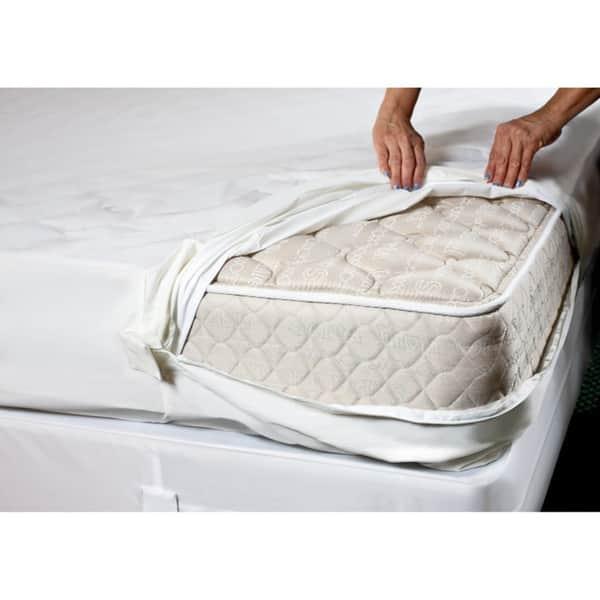 Bed Bug Mattress Cover.Shop Complete Encaement Cotton Top Zipperd Bed Bug Waterproof
