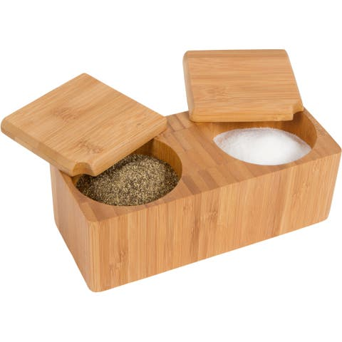 Bamboo Salt and Pepper Box