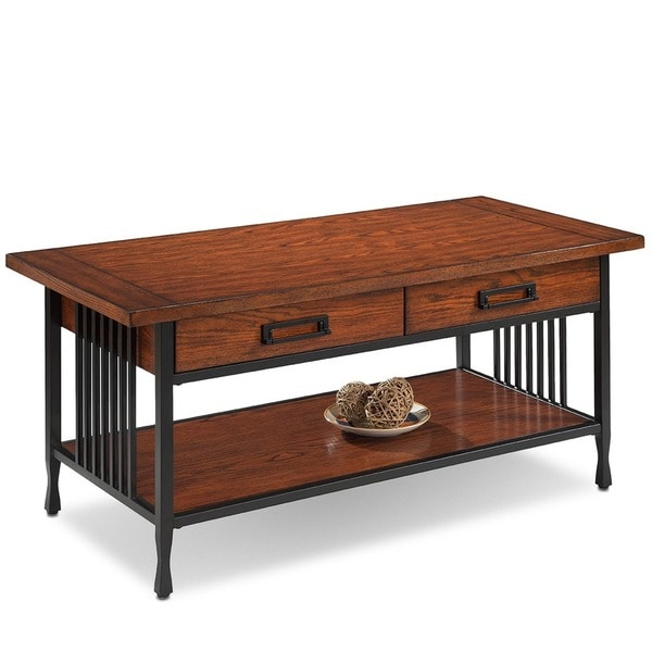 Matte Black Slatted Metal Base 2 Drawer Burnished Mission