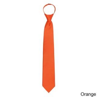 Jacob Alexander Solid Color Men's Pre-tied Zipper Tie