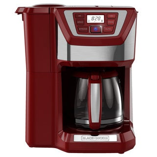 Black & Decker CM5000RD Red 12-Cup Mill and Brew