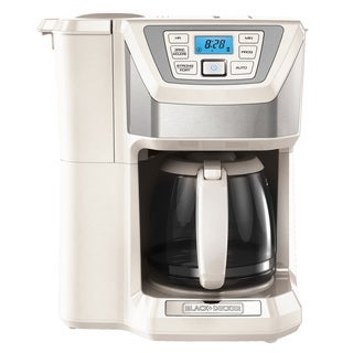 Black & Decker CM5000WD White 12-Cup Mill and Brew