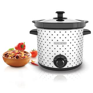 Black & Decker SC1004D Black and White 4-quart Slow Cooker https://ak1.ostkcdn.com/images/products/10235911/P17356325.jpg?impolicy=medium