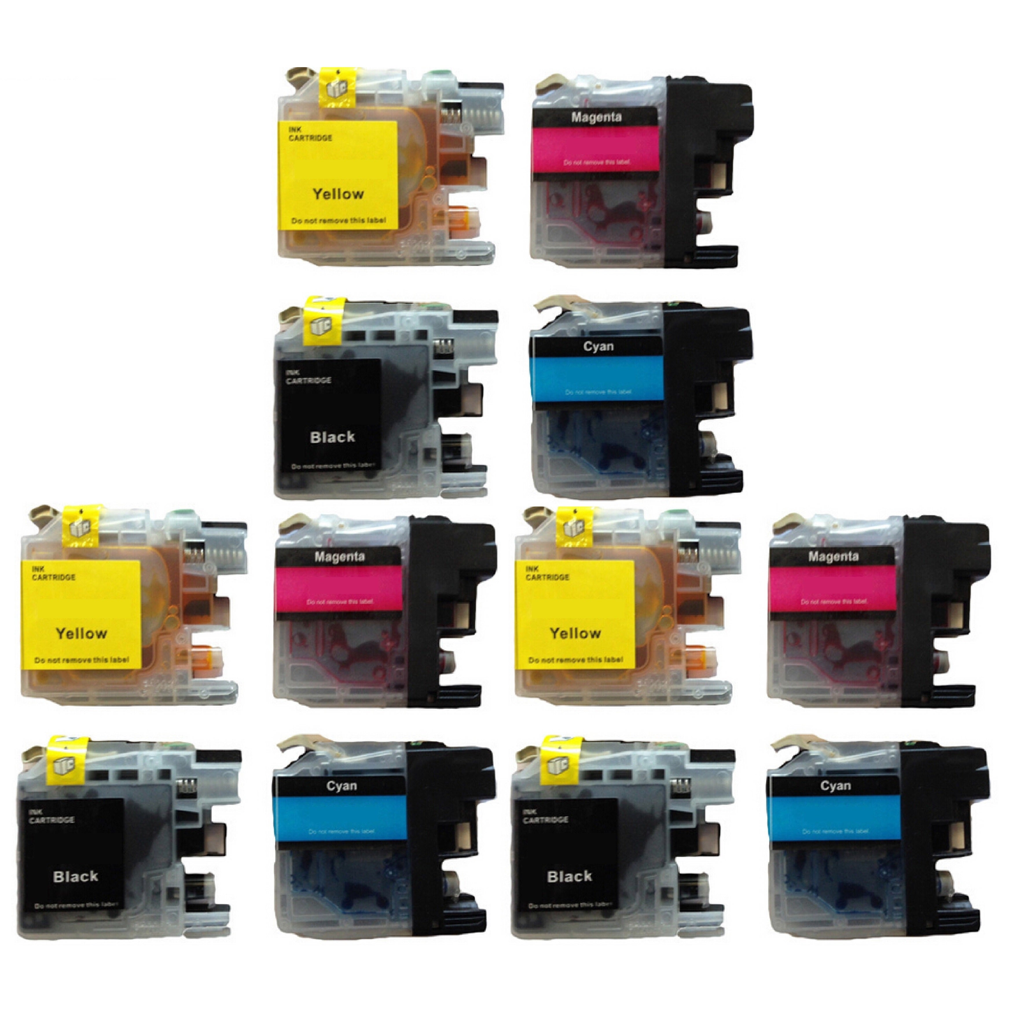 Prinko 12-Pk Compatible Brother LC103 Ink For MFC J245 J2...