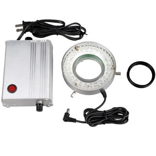 60 LED Solid Metal Microscope Ring Light with Heavy-Duty Control Box