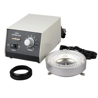 80-LED Microscope Ring Light with Heavy-Duty Metal Box and Adapter