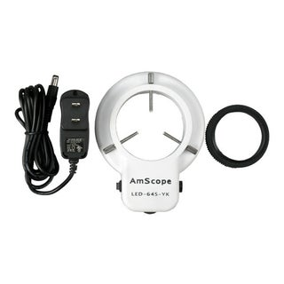 64 LED Microscope Ring Light with Dimmer