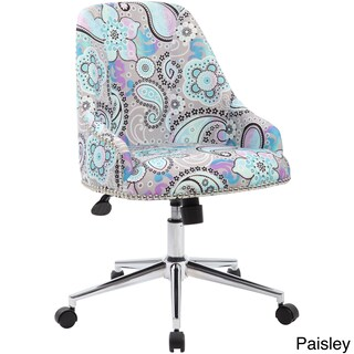 Boss Office Products Carnegie Fabric and Chrome Desk Chair (Option: Paisley)