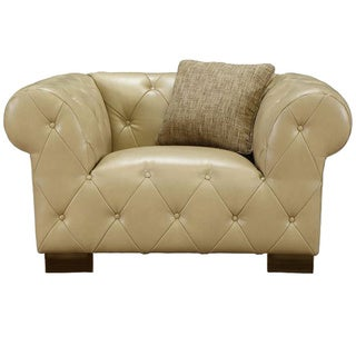 Tuxedo Beige Bonded Leather Chair