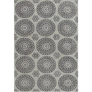 Alliyah Handmade New Zealand Blend Wool Grey Rug (5' x 8')