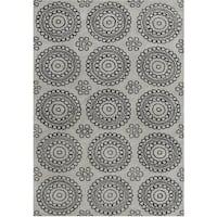Alliyah Handmade New Zealand Blend Wool Grey Rug - 5' x 8'