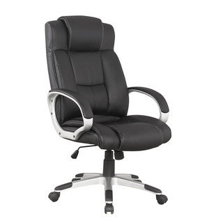 Manhattan Comfort Presidential Washington Black Leather Office Chair