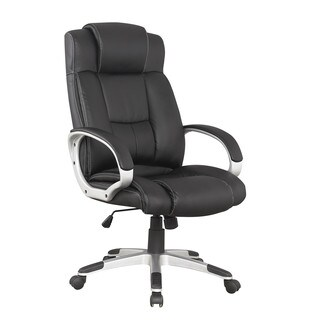 Manhattan Comfort Presidential Washington Office Chair in Black (Set of 2)