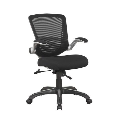 Manhattan Comfort Ergonomic Walden Office Chair in Black Mesh (Set of 2)