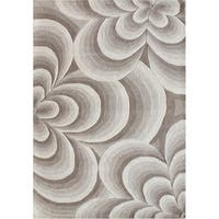 Alliyah Handmade Warm Sand New Zealand Blend Wool Rug - 5 x 8