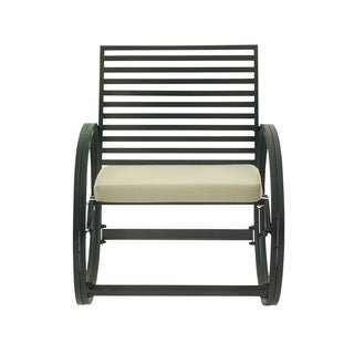 Black Tin Outdoor Rocking Chair