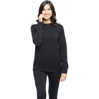 Ladies Powerstretch Fleece Crew Top|https://ak1.ostkcdn.com/images/products/10236719/P17357035.jpg?impolicy=medium