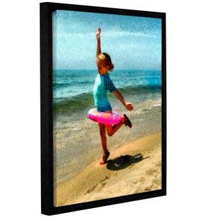 ArtWall Kevin Calkins ' Summertime Girl ' Gallery-Wrapped Floater-Framed Canvas