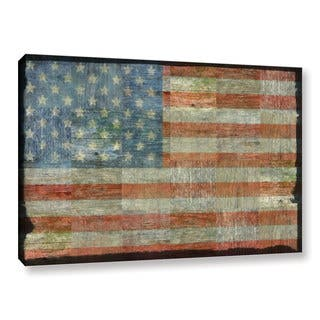 ArtWall Kevin Calkins ' Old Glory ' Gallery-Wrapped Canvas|https://ak1.ostkcdn.com/images/products/10236755/P17357064.jpg?impolicy=medium