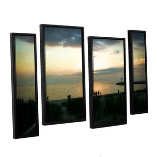 ArtWall Kevin Calkins ' Last Night 4 Piece Floater Framed Canvas Staggered Set