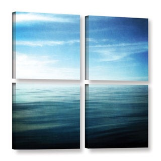 ArtWall Kevin Calkins ' Lake And Sky 4 Piece ' Gallery-Wrapped Canvas Square Set