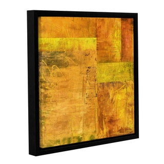 ArtWall Kevin Calkins ' Essence Of Yellow ' Gallery-Wrapped Floater-Framed Canvas