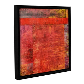ArtWall Kevin Calkins ' Essence Of Red ' Gallery-Wrapped Floater-Framed Canvas