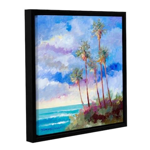 ArtWall Bill Drysdale ' Laguna Palms ' Gallery-Wrapped Floater-Framed Canvas - multi