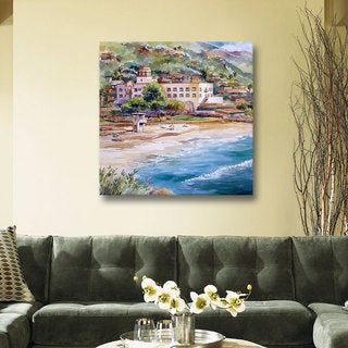 ArtWall Bill Drysdale ' Laguna Main Beach ' Gallery-Wrapped Canvas