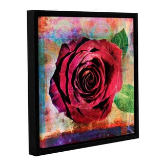 ArtWall Elena Ray 'Rose ' Gallery-Wrapped Floater-Framed Canvas
