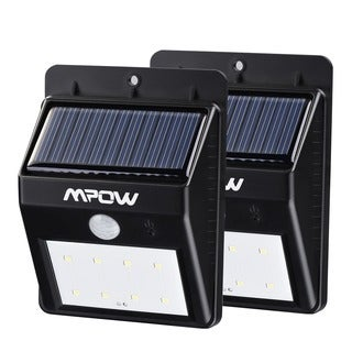 Mpow Solar Powered Wireless LED Security Motion Sensor Light (Set of 2)
