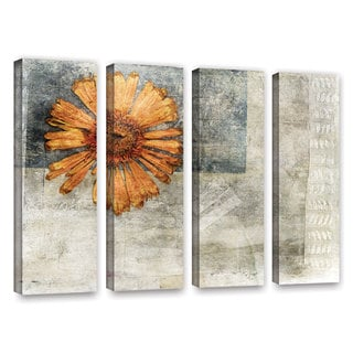 ArtWall Elena Ray ' Vintage Flower 4 Piece ' Gallery-Wrapped Canvas Set