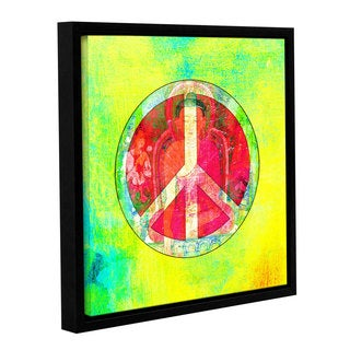 ArtWall Elena Ray ' Peace Sign ' Gallery-Wrapped Floater-Framed Canvas