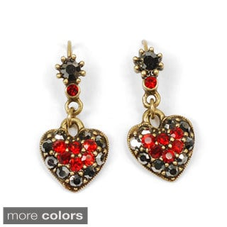Sweet Romance Crystal Heart Aurora Rainbow Earrings