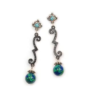Sweet Romance Southwest Arizona Turquoise Earrings