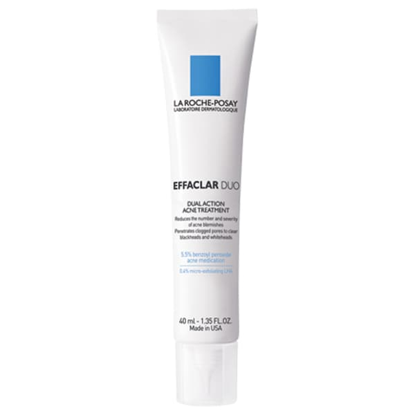 La Roche-Posay Effaclar Duo Dual Action Acne Treatment Cream with Benzoyl Peroxide - White/Blue. Opens flyout.