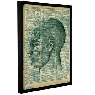 ArtWall Elana Ray ' Right Brain Thinker ' Gallery-Wrapped Floater-Framed Canvas