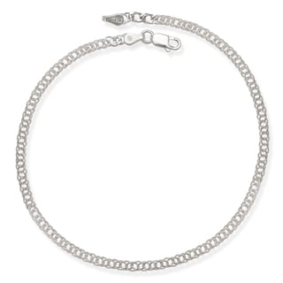 Sterling Silver 10-Inch 3mm Rombo Chain Anklet