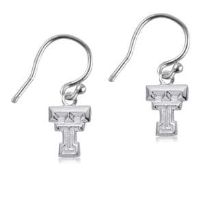 Texas Tech Sterling Silver Dangle Earrings