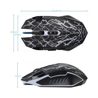2500 DPI 9 Programmable Buttons USB Wired Professional Gaming Mouse