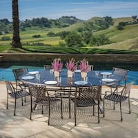 Sebastian Outdoor Cast Aluminum 9-piece Dining Set w by Christopher Knight Home