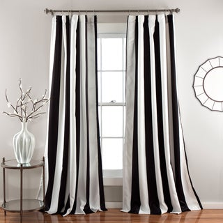 Lush Decor Wilbur Blackout Window Curtain Panel Pair