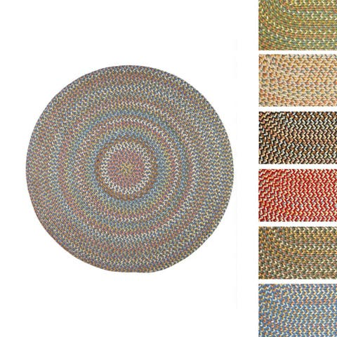 Cozy Cove Indoor/Outdoor Round Braided Rug by Rhody Rug (6' x 6')