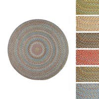 Cozy Cove Indoor/Outdoor Round Braided Rug by Rhody Rug (6' x 6') - 6' x 6'