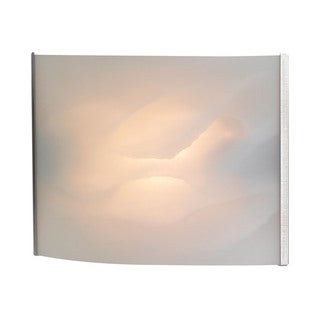 Cornerstone White Stainless Steel/ White Alabaster Glass 1-light Sconce